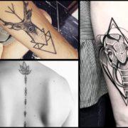 Tatuaże geometryczne – 32 wzory dla perfekcjonistów