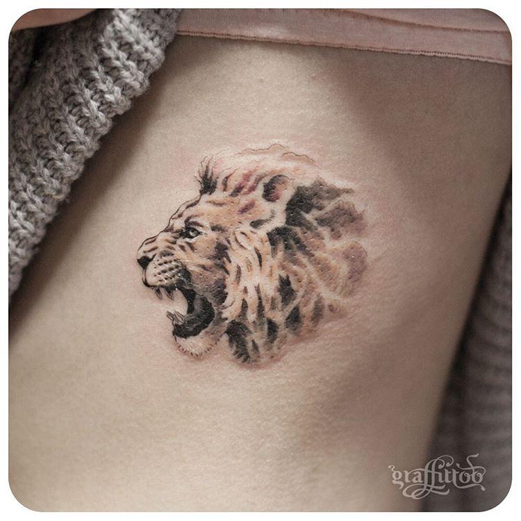 Tatuaż Lew Galeria 23 Wzorów Dla Odważnych Etatuatorpl