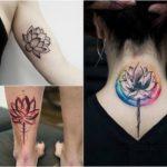 Tatuaż kwiat lotosu – galeria 34 pomysłów na piękny wzór