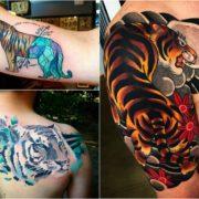 Tatuaż tygrysa – 35 unikalnych projektów na tatuaż