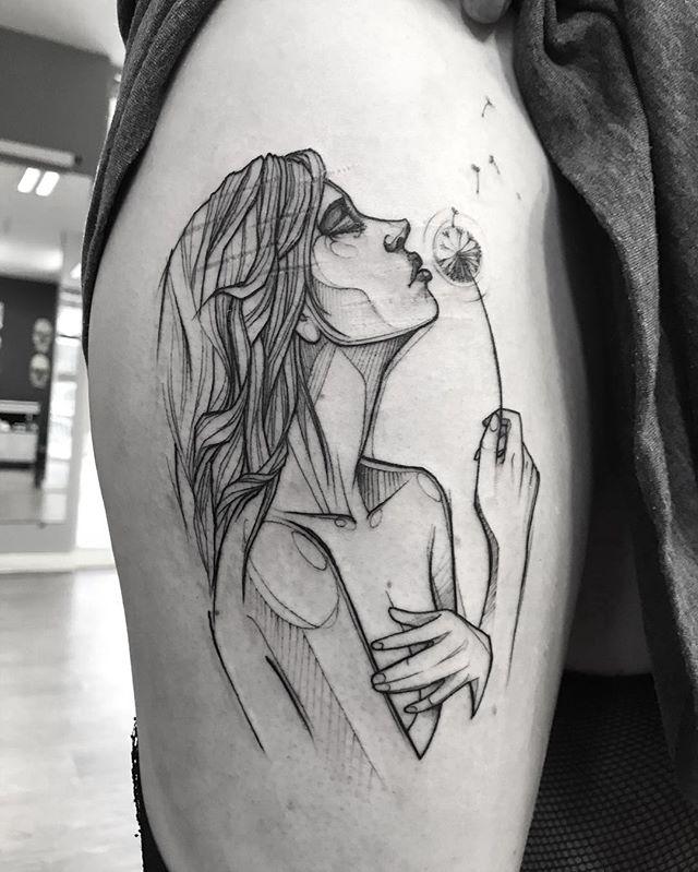 Tatuaż Dmuchawiec 14 Fascynujących Pomysłów Na Tatuaż