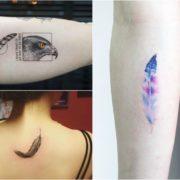 Tatuaż piórko – 27 niesamowitych wzorów