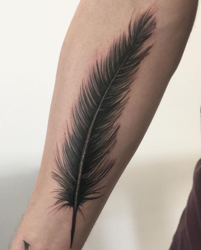 Tatuaż Piórko 27 Niesamowitych Wzorów Etatuatorpl