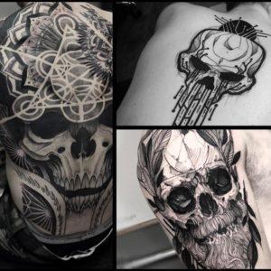 Tatuaże czaszki – 27 mrocznych wzorów