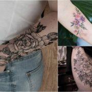 Tatuaże kwiaty – 38 pięknych wzorów