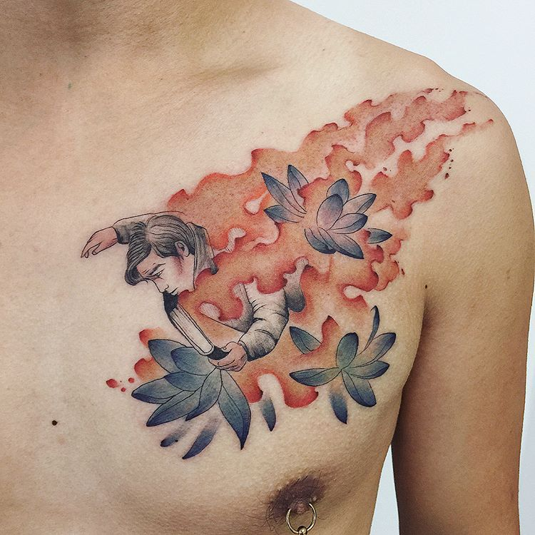 Tatuaże Na Klatce Piersiowej 35 Przykładowych Wzorów Dla