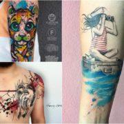 Tatuaże watercolor – 46 niezwykle pięknych wzorów