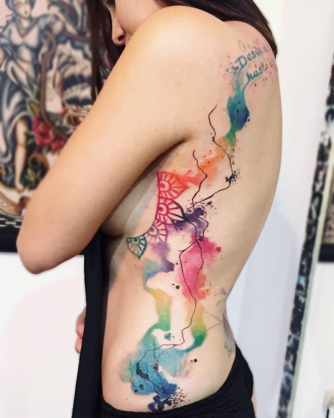 Tatuaże Watercolor 46 Niezwykle Pięknych Wzorów Etatuatorpl