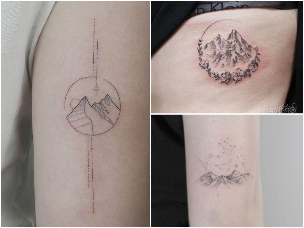 Tatuaż Góry 22 Ciekawych Pomysłów Na Tatuaż Etatuatorpl