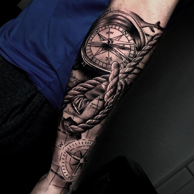 Tatuaż Kompas 24 Inspirujących Wzorów Etatuatorpl