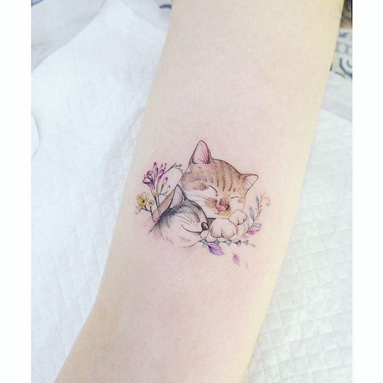 Tatuaż Kot 42 Ciekawych Pomysłów Na Nowy Tatuaż Etatuatorpl