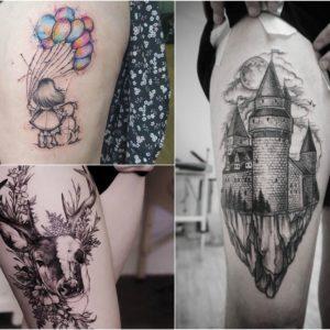 Tatuaż na udzie – 41 wyjątkowych pomysłów na wzór