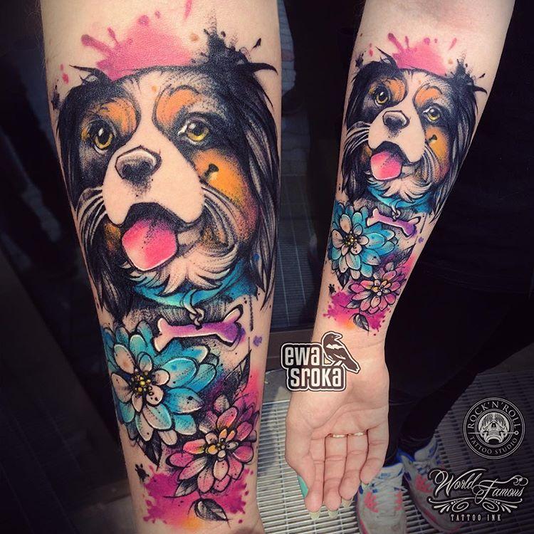 Tatuaż Pies 37 Ciekawych Wzorów Z Podobizną Psa Etatuatorpl