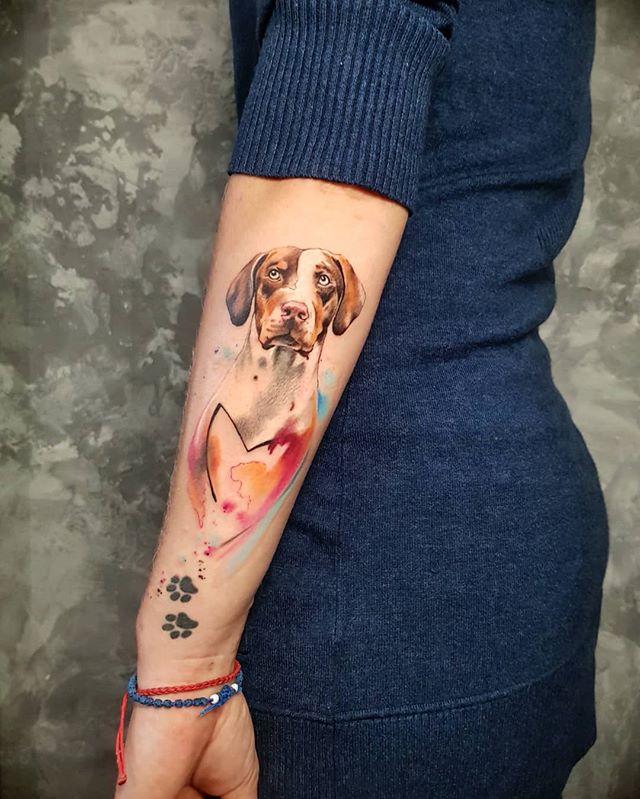 tatuaż pies