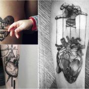 Tatuaż serce – 35 fascynujących wzorów