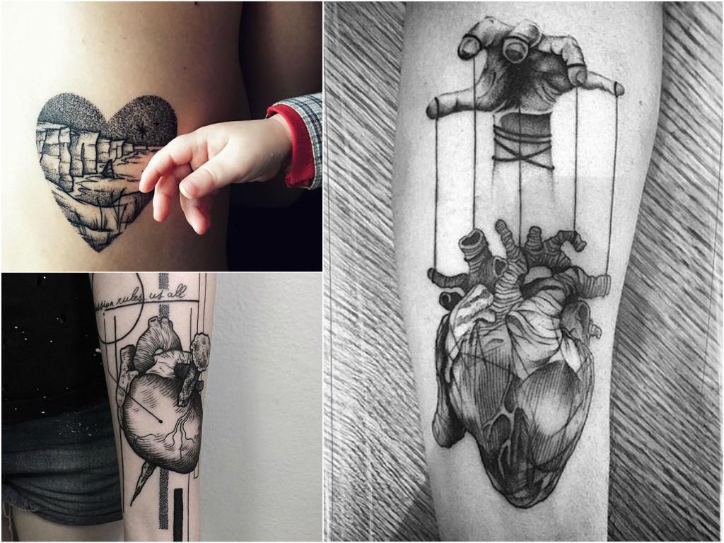 Tatuaż Serce 35 Fascynujących Wzorów Etatuatorpl