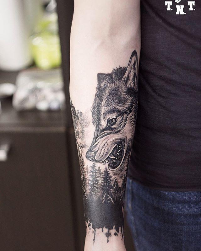 Tatuaż Wilk Galeria 38 Pomysłów Na Fantastyczny Wzór