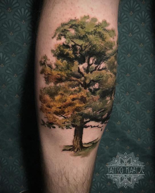 Tatuaż Z Motywem Drzewa Symbolika Etatuatorpl