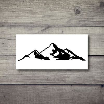 Tatuaż tymczasowy góry