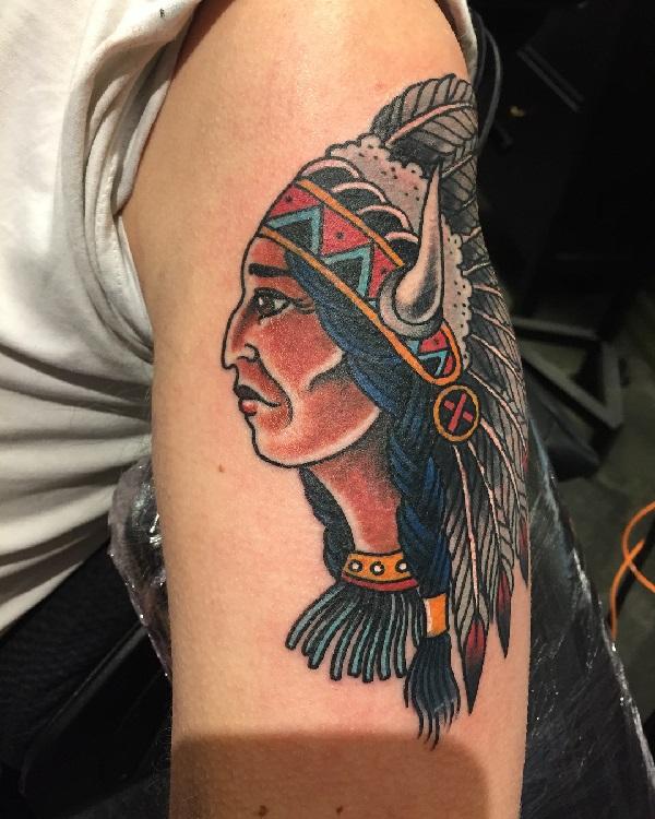 Tatuaże Indiańskie I Ich Znaczenie Etatuatorpl