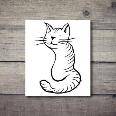 Tatuaż tymczasowy kot