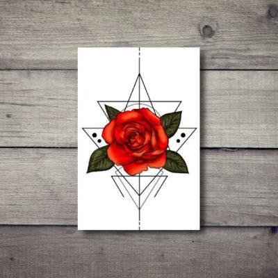 Tatuaż tymczasowy róża
